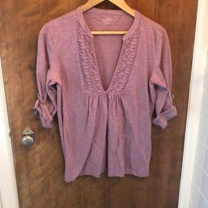 LOFT slub long sleeve tee Medium